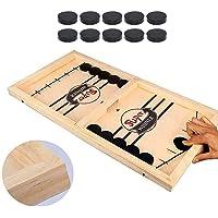 لعبة طاولة الهوكي السريعة 2 في 1 من سو فام مع حبل رمي وقرص الهوكي لمباريات الهوكي الكلاسيكية المضحكة للكبار او الاطفال