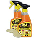 Goo Gone Adhesive Remover Spray Gel - 2 Pack and Sticker Lifter - Removes Chewing Gum Grease Tar Stickers Labels Tape Residue