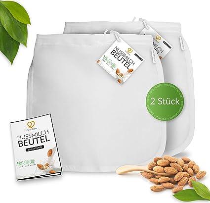 GoodBake - Juego de 2 Bolsas de Leche de Nuez para Leche de almendras Vegana,
