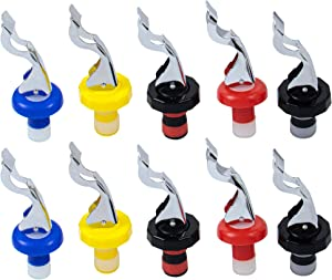 AUEAR, 10Pcs Wine Stoppers Silicone Bottle Caps Stopper Food-Safe Plug Reusable Cork Reusable Corks Expanding Manual Beverage for Champagne Beer Whiskey Soda Water Supplies Creates Airtight Seal