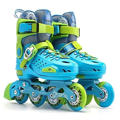 SKATE Patines en línea Ajustables para niños y Adultos, Patines con Ruedas con Luces para niñas y niños Rodillo: Amazon.es: Zapatos y complementos