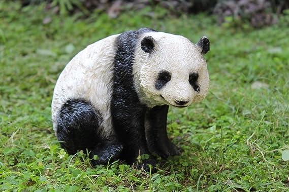 Wonderland Small Panda (Real Looking) for Garden Decor, Garden Decoration Item or Home Decoration, Balcony Animal Statue, Gift, Children Room