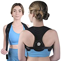 Posture Corrector Upper Back Brace - Back Straightener for Neck Hump, Scoliosis - Stop Slouching Trainer for Perfect Straight Back - Wearable Under Clothes - for Women and Men