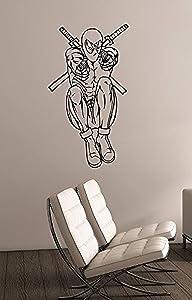 Deadpool Removable Vinyl Sticker Wall Decal Marvel Comics Superhero Decorations for Home Bedroom Teen Kids Boys Room Decor dpl4