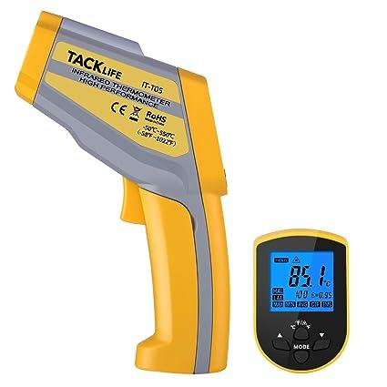 Termómetro digital Tacklife IT-T05 - Termómetro con 2 punteros láser de alta precisión -