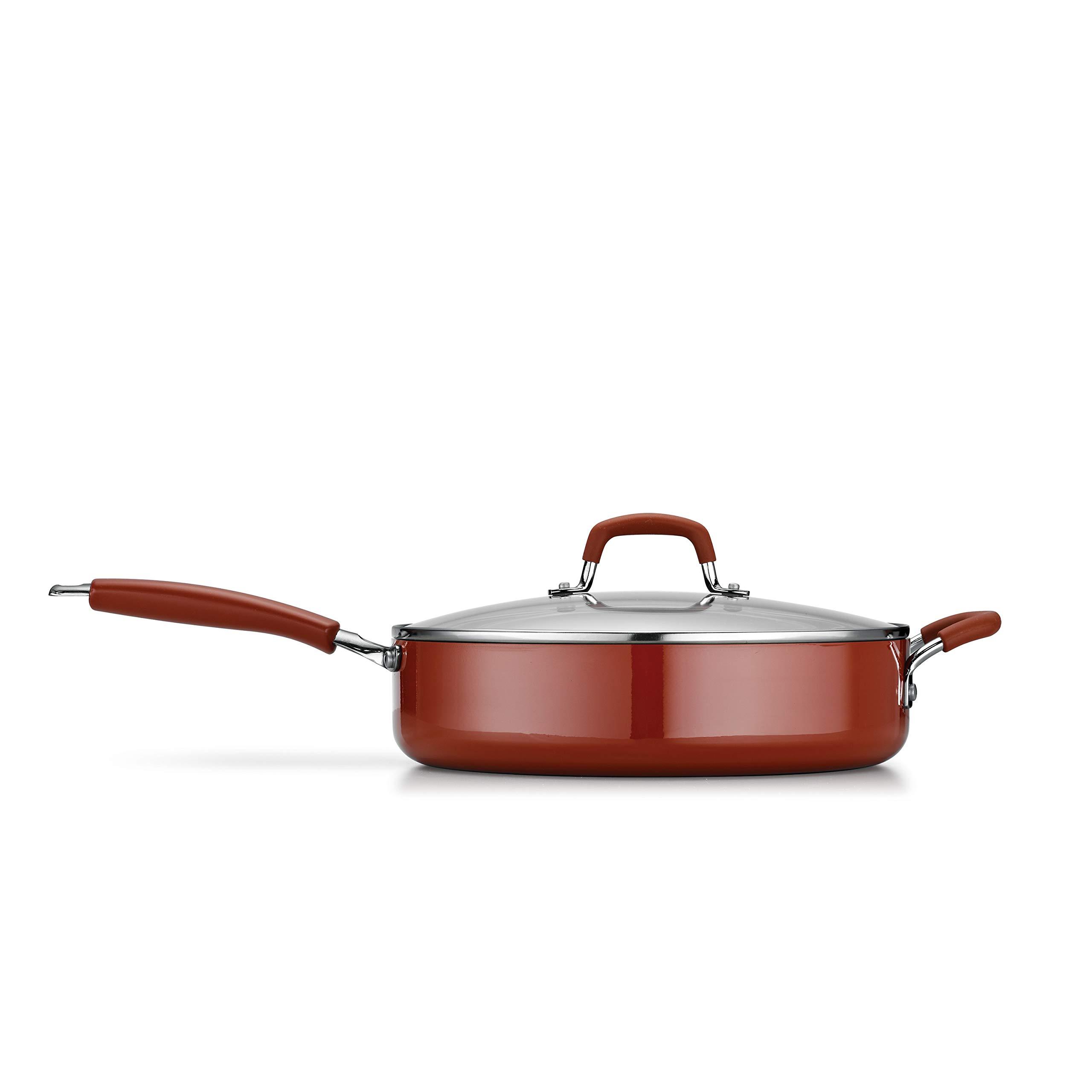 Tramontina 80151/504 Simple Cooking Aluminum Red Handles, 3 Piece, Porcelain Enamel Deep Saute Set, Spice by Tramontina (Image #2)