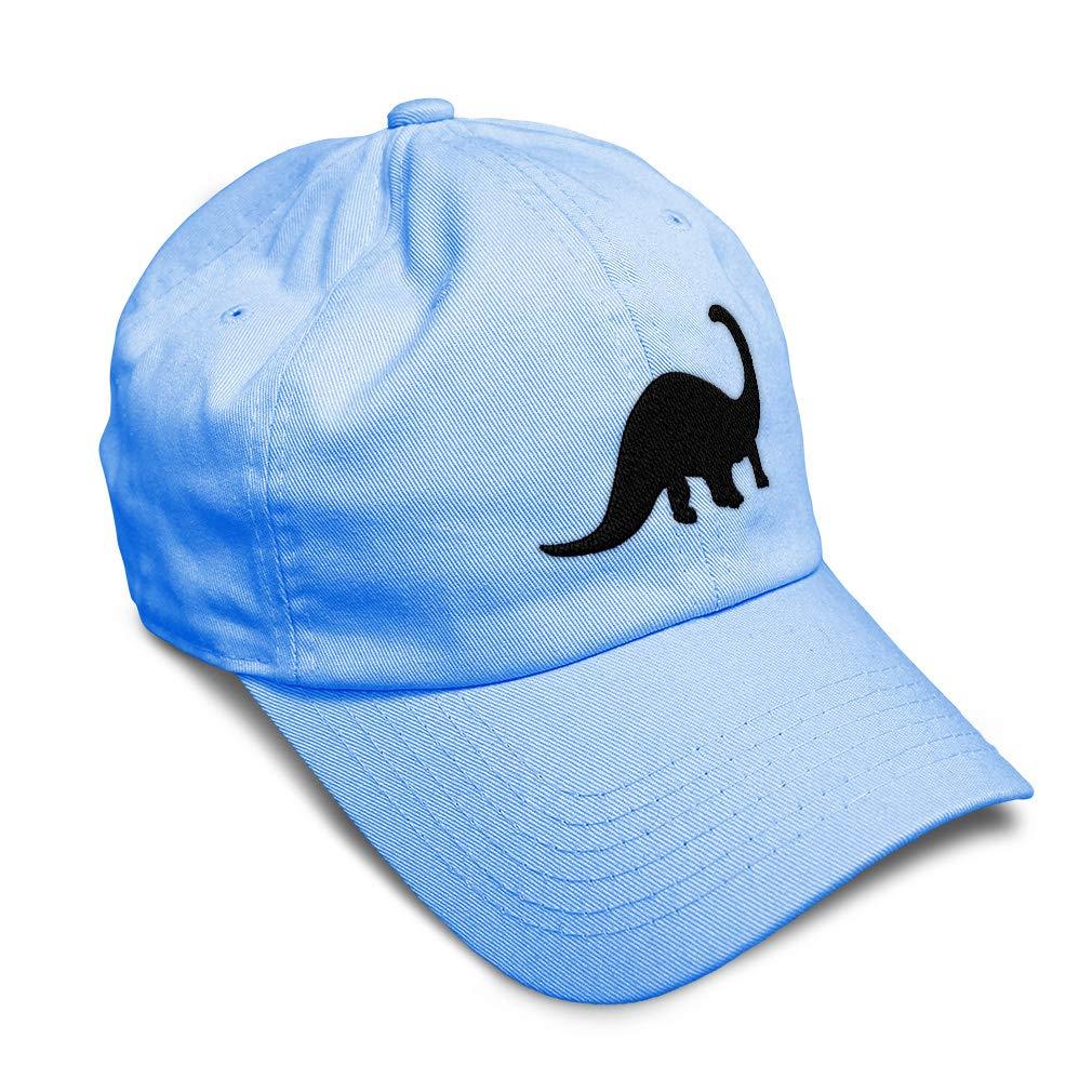 Custom Soft Baseball Cap Brontosaurus Style B Embroidery Twill Cotton