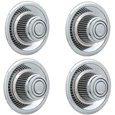 """OxGord Rally Wheel Center Caps (Pack of 4) Best for GM Classic Car Accessories 