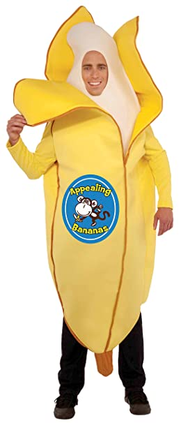 Forum Novelties Men's Appealing Banana Mascot Costume, Yellow, One Size