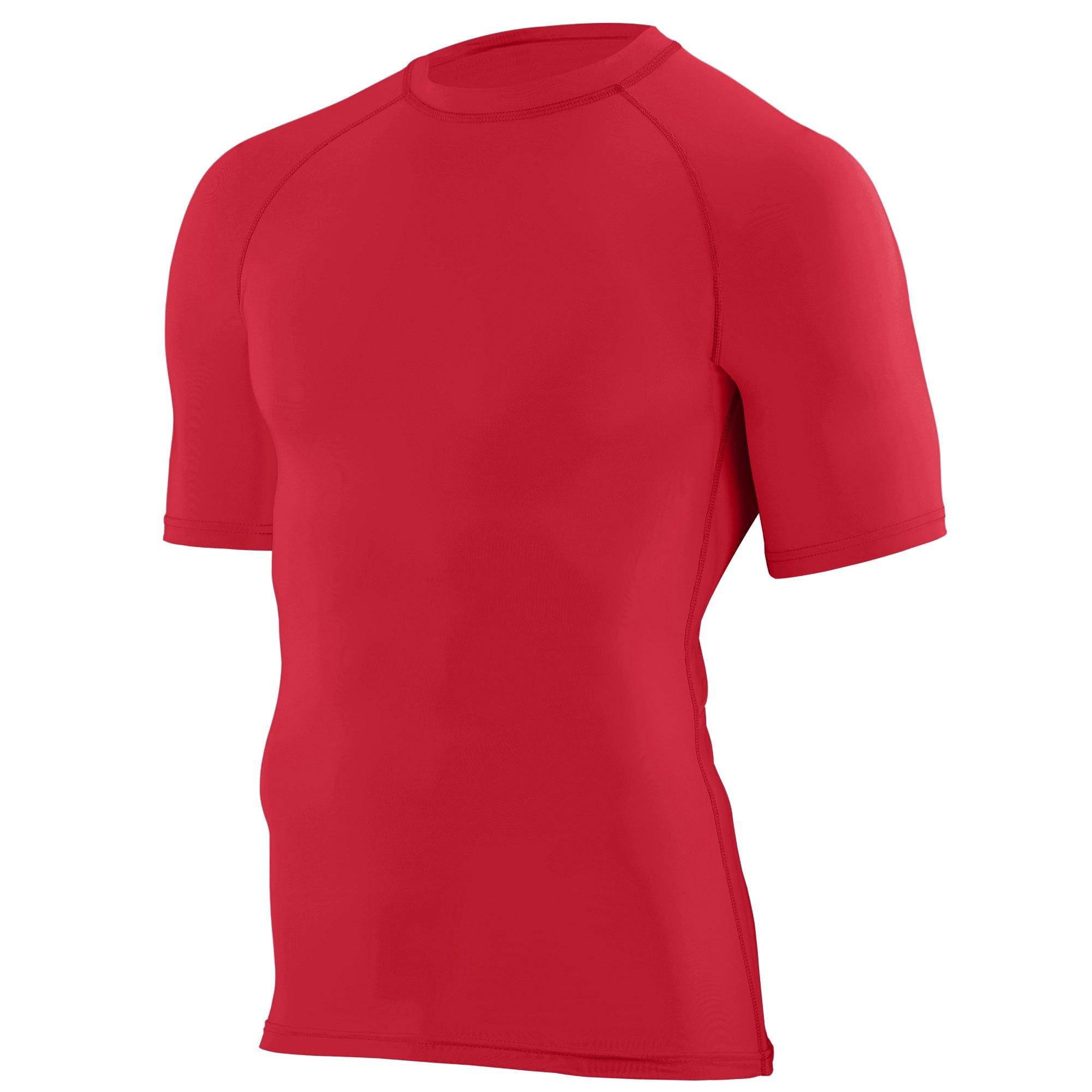Augusta Sportswear Boys' Hyperform Compression Short Sleeve Shirt S Red