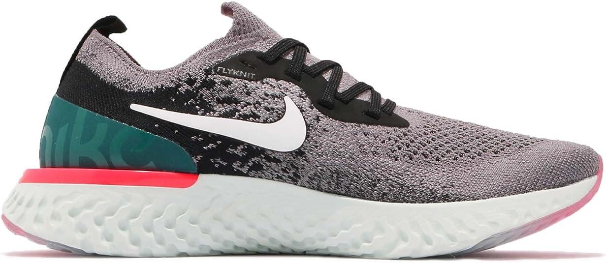 Nike Epic React Flyknit (GS), Zapatillas de Running para Hombre, Multicolor (Gunsmoke/White/Black/Geode Teal 010), 38.5 EU: Amazon.es: Zapatos y complementos