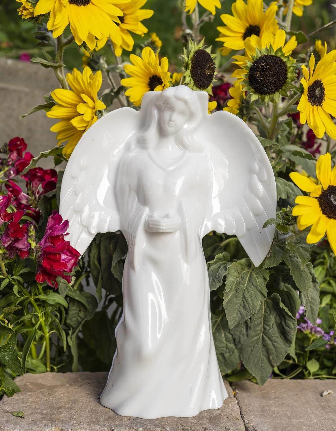Solar Lighted Angel by Eternal Light | Solar Grave Decoration Heartfelt Cemetery Memorial 14'' x 10'' by Eternal Light Cross