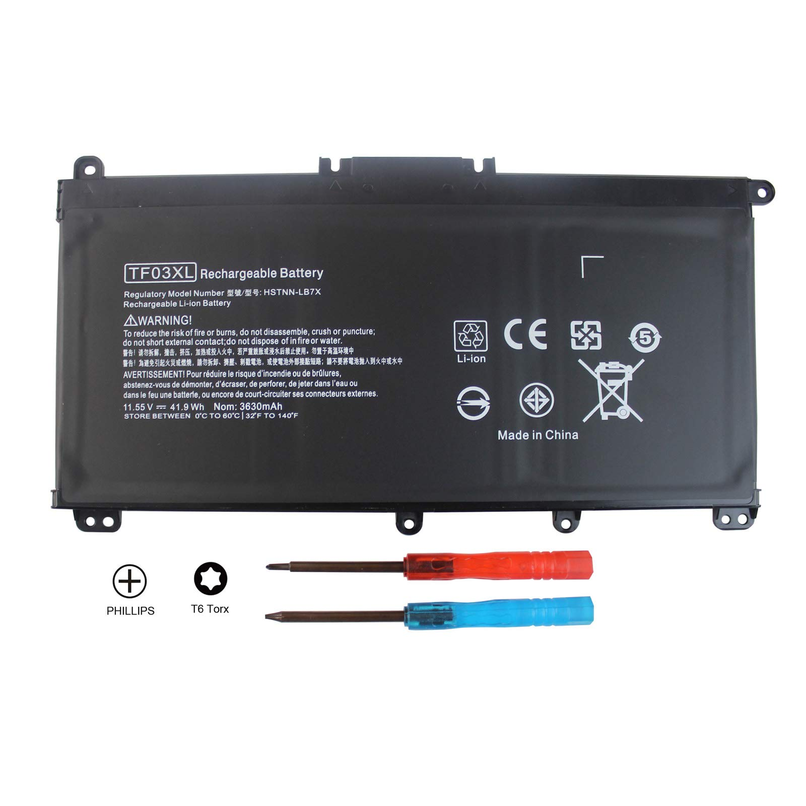 Bateria 11.55V 41.9WH TF03XL TF03041XL HP Pavilion 15-cc152o