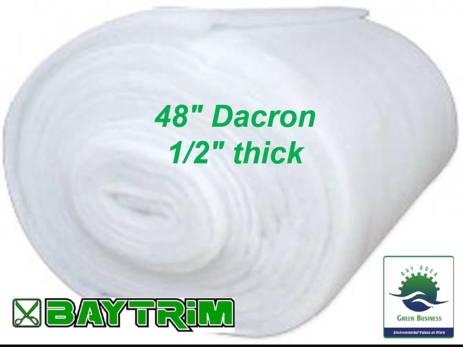 BayTrim Bonded Dacron Upholstery Grade Polyester Batting 48 inch Wide. (3 Yards)