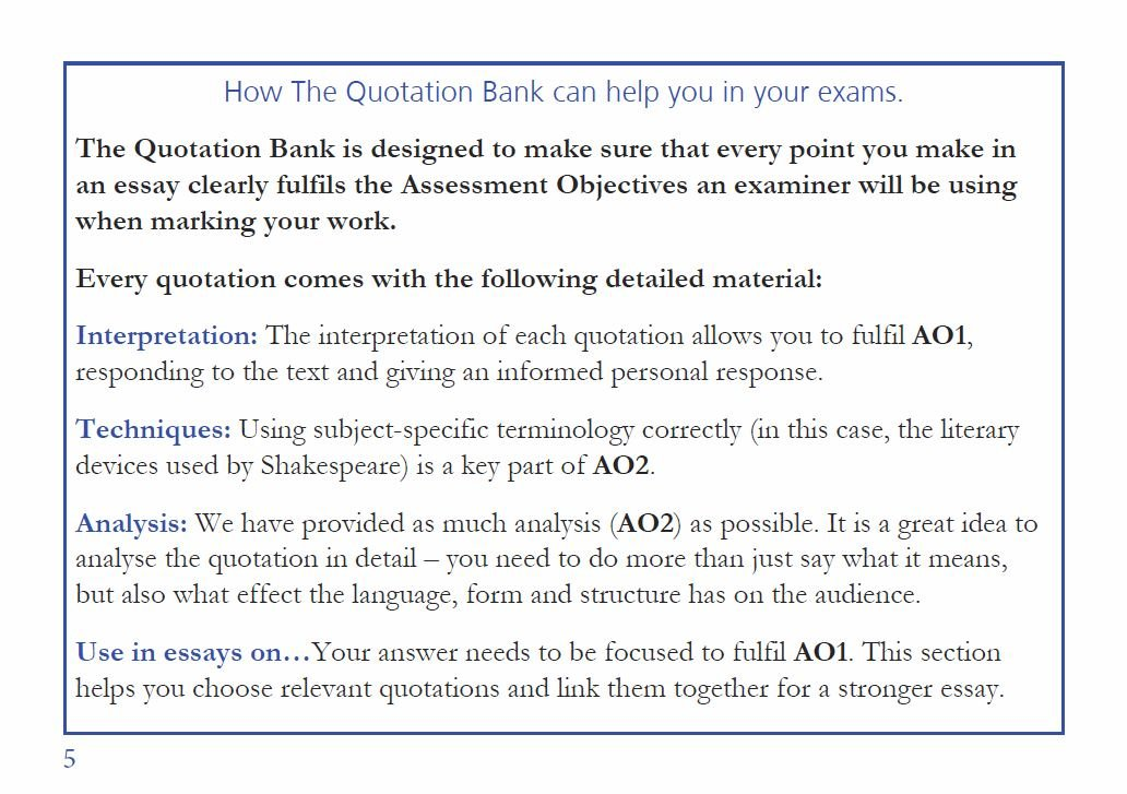 The Quotation Bank: Macbeth GCSE Revision and Study Guide for