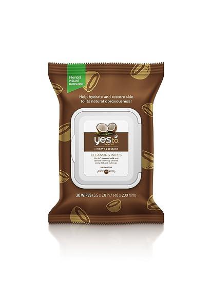 Toallitas húmedas con olor a coco de Yes To