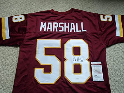 check out f1f0d 4acf4 Wilber Marshall Autographed Signed Washington Redskins ...