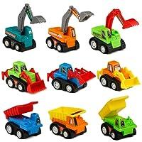 Véhicule Chantier Coffret Voiture Miniature Mini Jouet Camion Enfant 3 ans et Plus