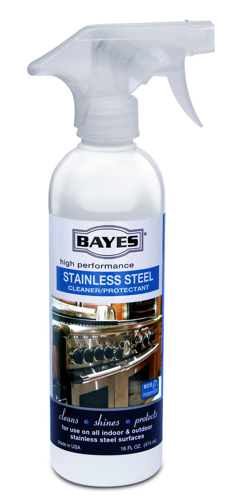 Bayes Premium Stainless Steel Cleaner and Protectant, 16 oz, Pack of 6