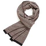 FULLRON Men's Cashmere Cotton Scarf Silky & Warm Scarves, Coffee/Beige