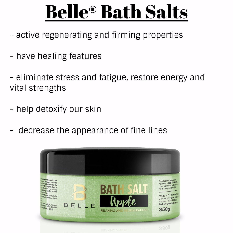 Sal de baño Belle® Apple - Vela de aromaterapia Mineral eliminar el estrés y la fatiga, restaurar la energía y vital puntos fuertes - 350 g: Amazon.es: ...