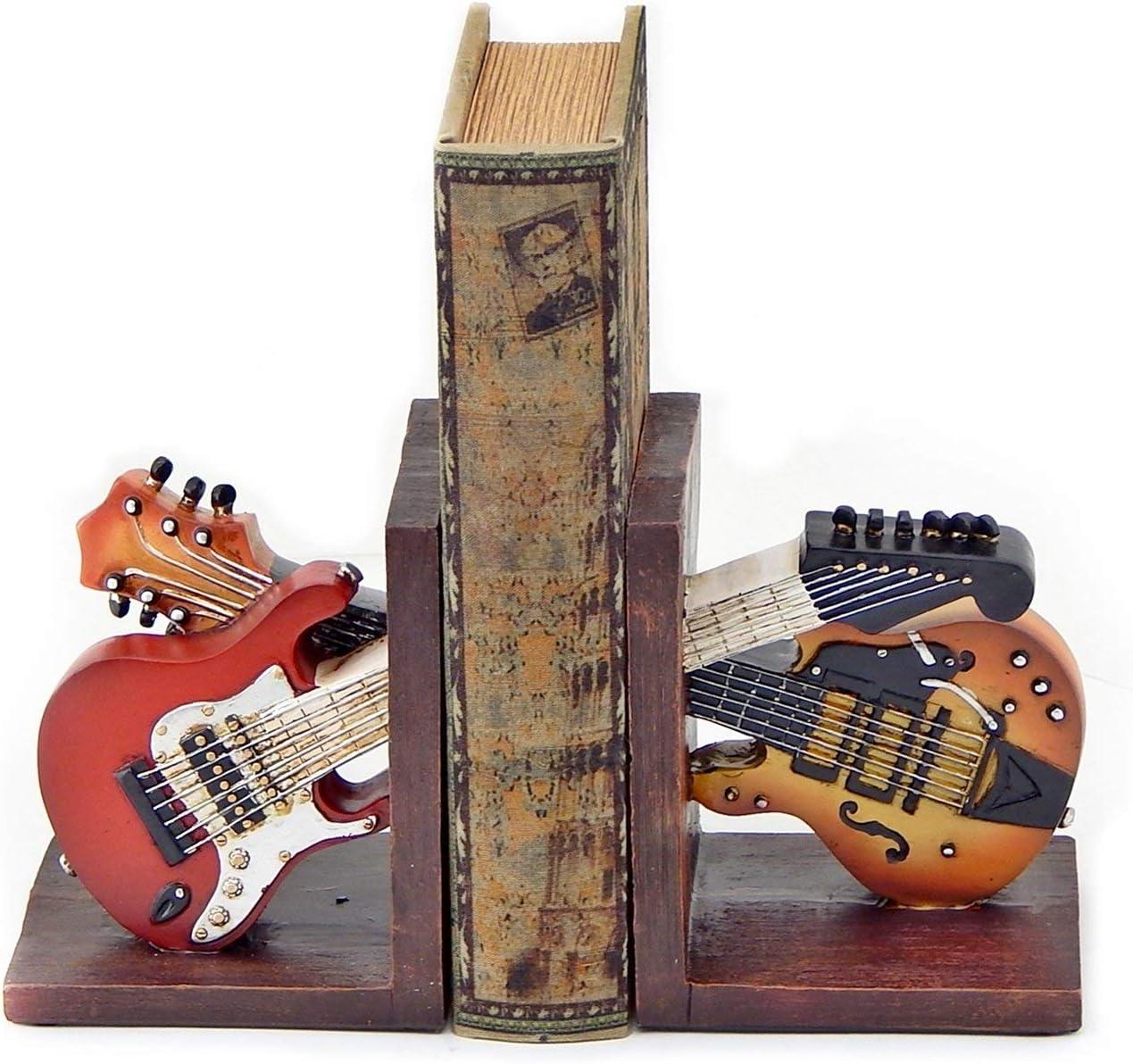 Decorativo sujetalibros Vintage guitarra doble música para libros ...