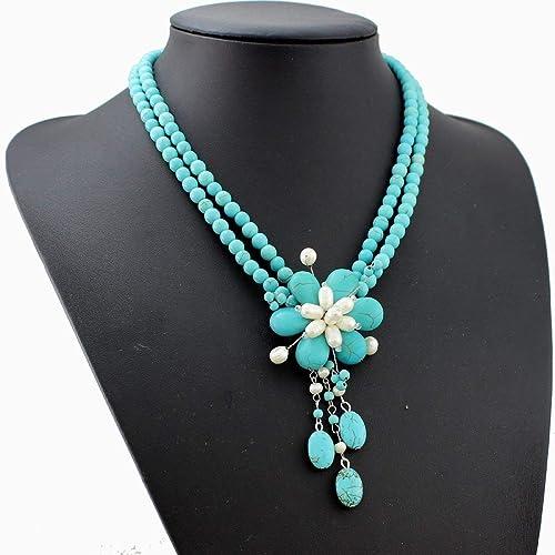 collier perle de turquoise
