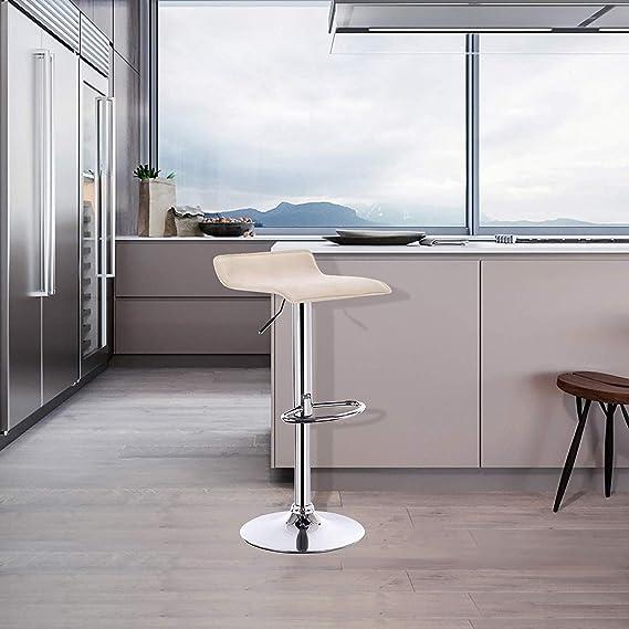 QSHG Silla sillas Bar-PVC Cuero for Exteriores Materiales ...