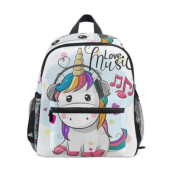 8f27db2f SKYDA - Mochila para escolar, adolescentes, niñas, niños, unicornio con  auriculares,