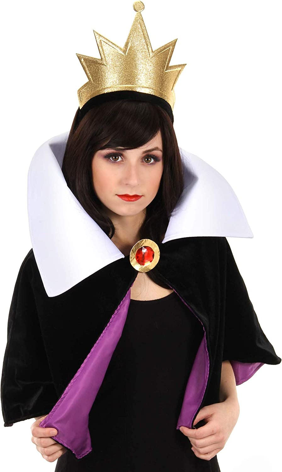 elope Disney's Snow White Evil Queen Headband Crown and Collar Kit