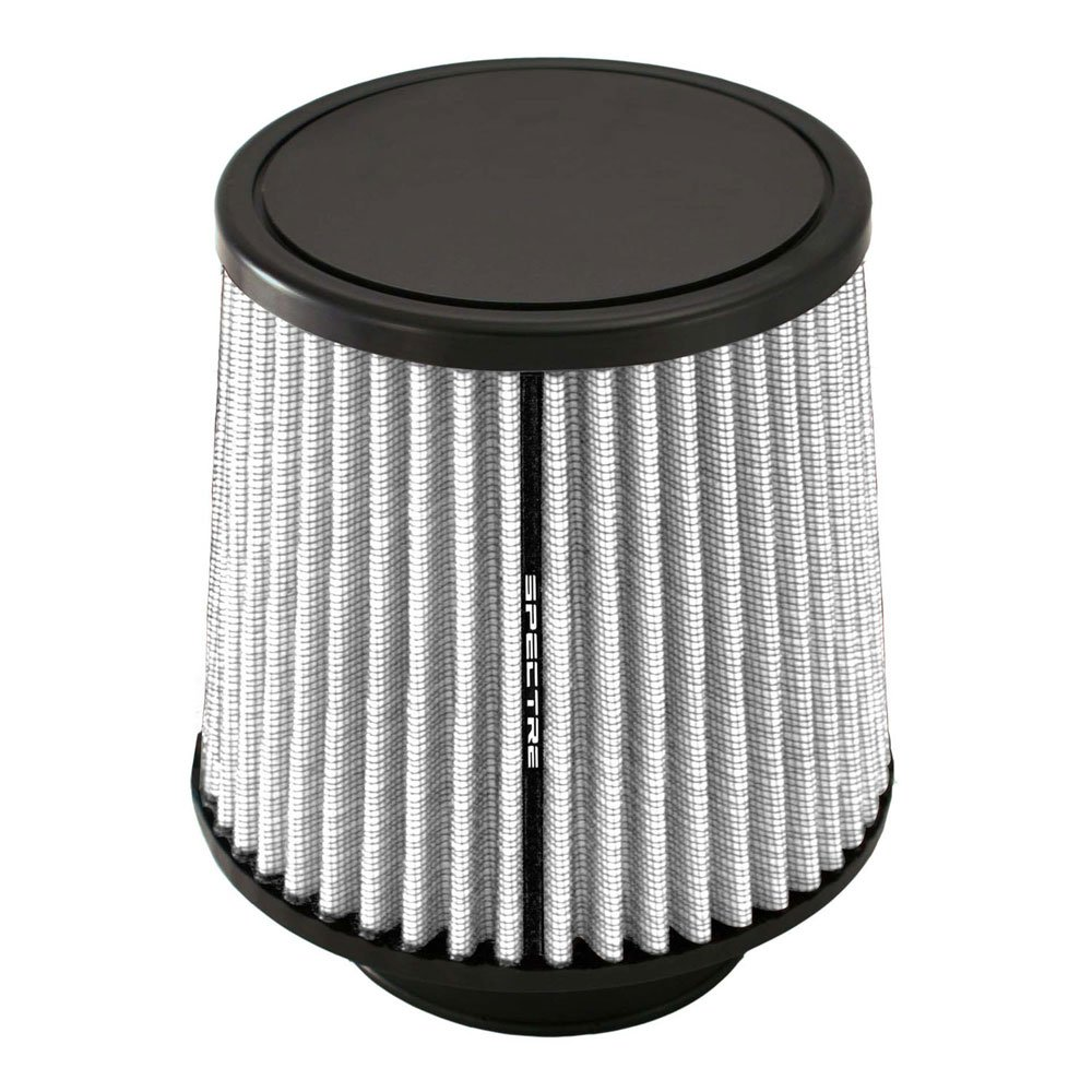 Spectre Performance HPR9935W Universal Clamp-On Air Filter: Round Tapered; 3.5 in Flange ID; 7.125 in 181 mm Base; 5.219 in Top SPE-HPR9935W Height; 6.125 in 133 mm 156 mm 89 mm