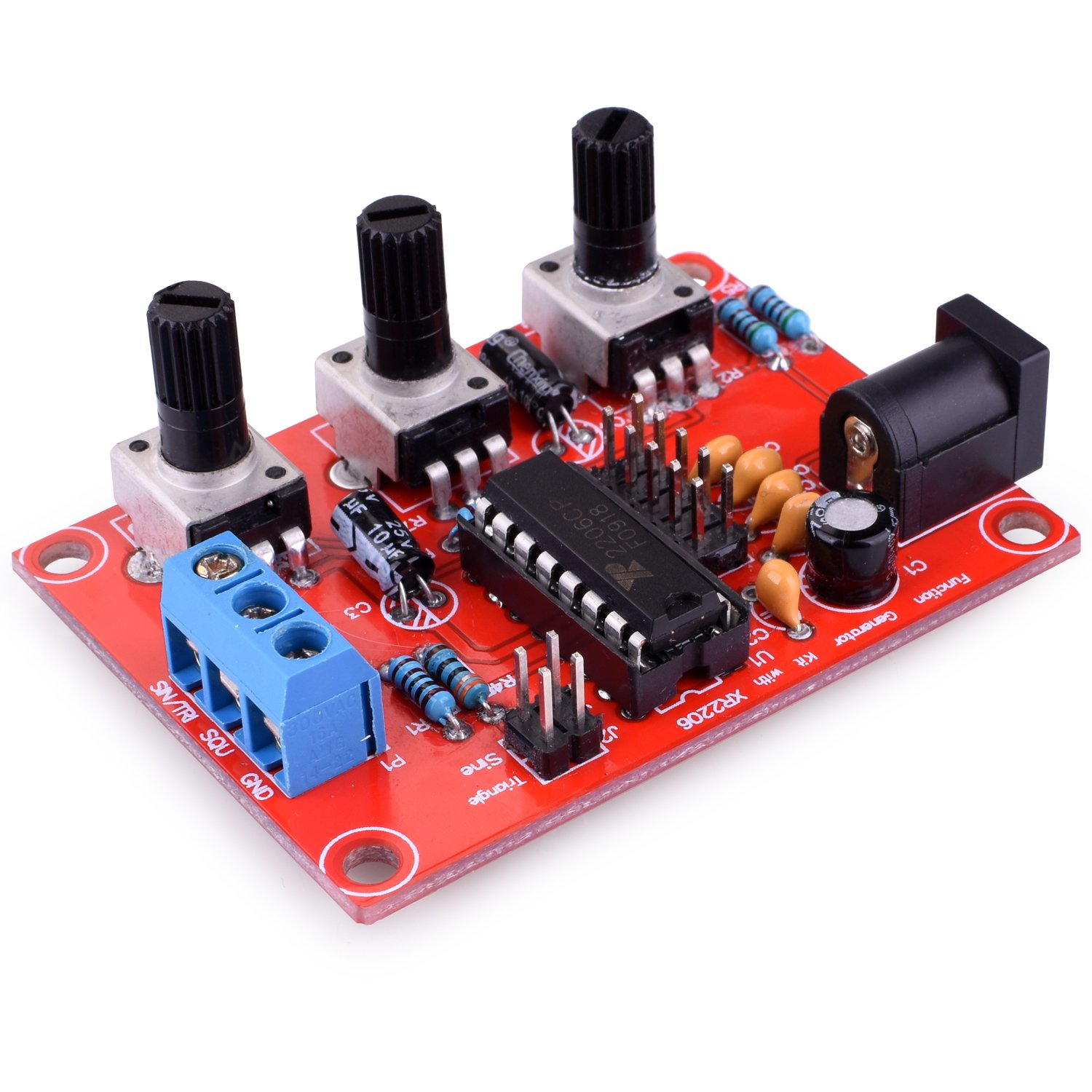 Function Generator Kuman Updated Xr2206 Diy Kit Signal Tri Waveform With Screwdriver And Jumper Wires Cable Sine Triangle Square Output 1hz 1mhz Adjustable