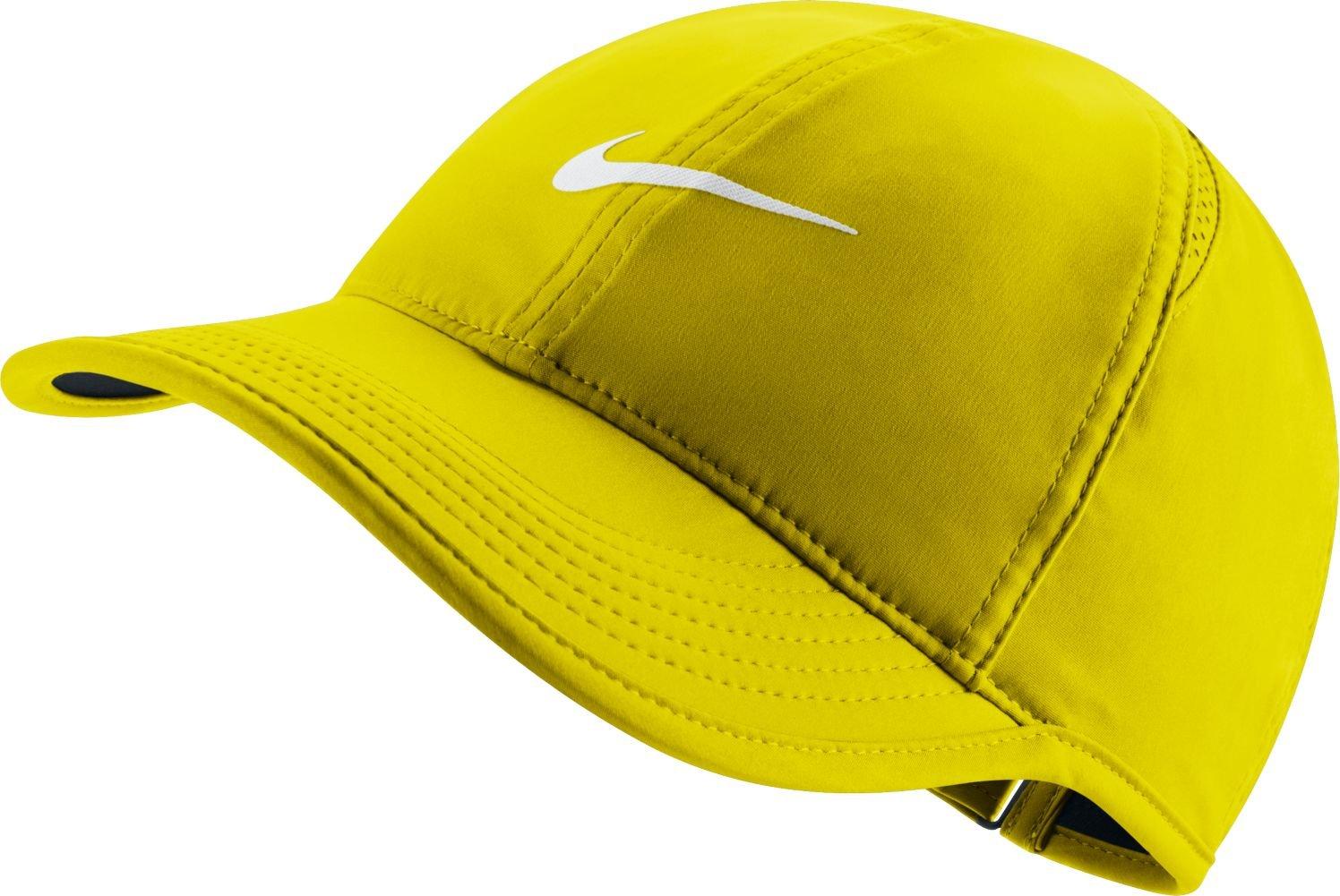 ナイキ(NIKE) ウィメンズ フェザーライト キャップ 679424 B0058YB48K One Size|Opti Yellow Opti Yellow One Size