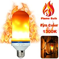LUXON LED Flame Light Bulbs Fire Flicker Effect Lamp