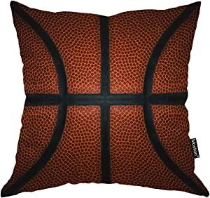 Moslion Fathers Day Pillow Covers 18x18 Pillows Funny Pillows Basketball Game Modern Pillow Throw Pillow Cover Sport Square Pillow Case Cushion Cover for Home Car Decorative Cotton Linen