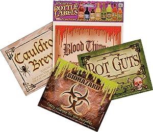 Forum Novelties, Scary Bottle Labels (8/Pkg) Prop Decoration One Size, Multicolor