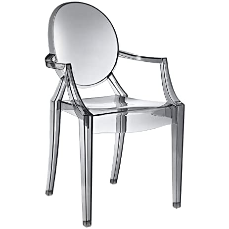 Delicieux LexMod Ten Philippe Starck Style Louis Ghost Chairs, Smoke