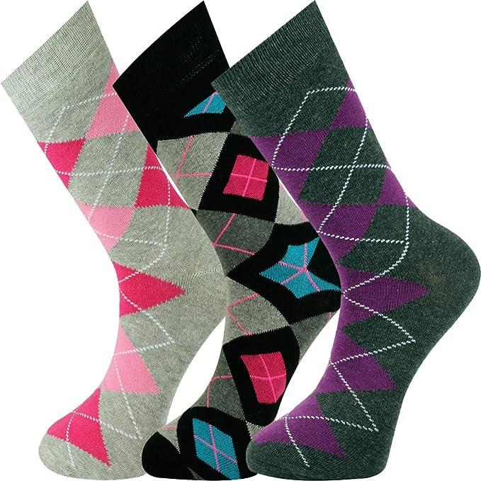 cf2e22a64 Mysocks Unisex Ankle Socks 3 Pairs Argyle 01 at Amazon Men s ...