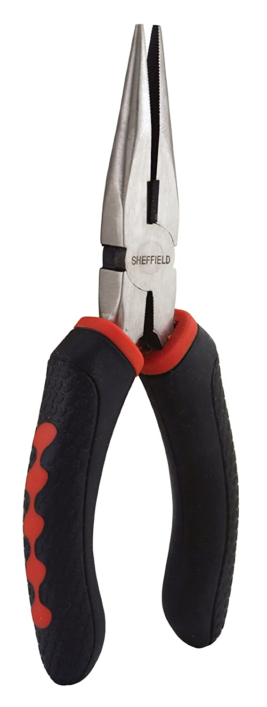 Sheffield 58502 Secure Grip Long Nose Pliers, 6.5 Inch - Needle Nose Pliers - Amazon.com