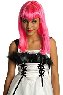 Childs Pink Glitter Vamp Wig