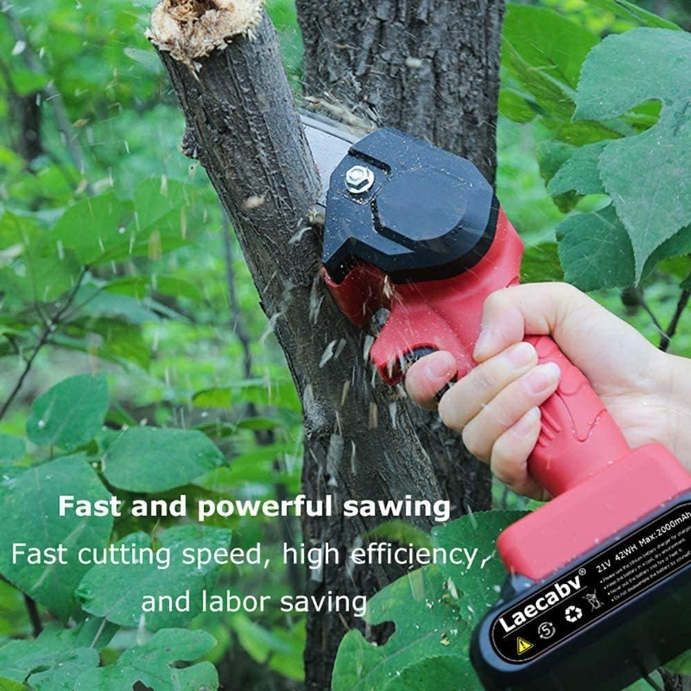 S SMAUTOP Tron/çonneuse /à main sans fil 4 pouces 5 m//S scie /électrique portable domestique mini scie /à cha/îne rechargeable pour la coupe de bois de branche darbre