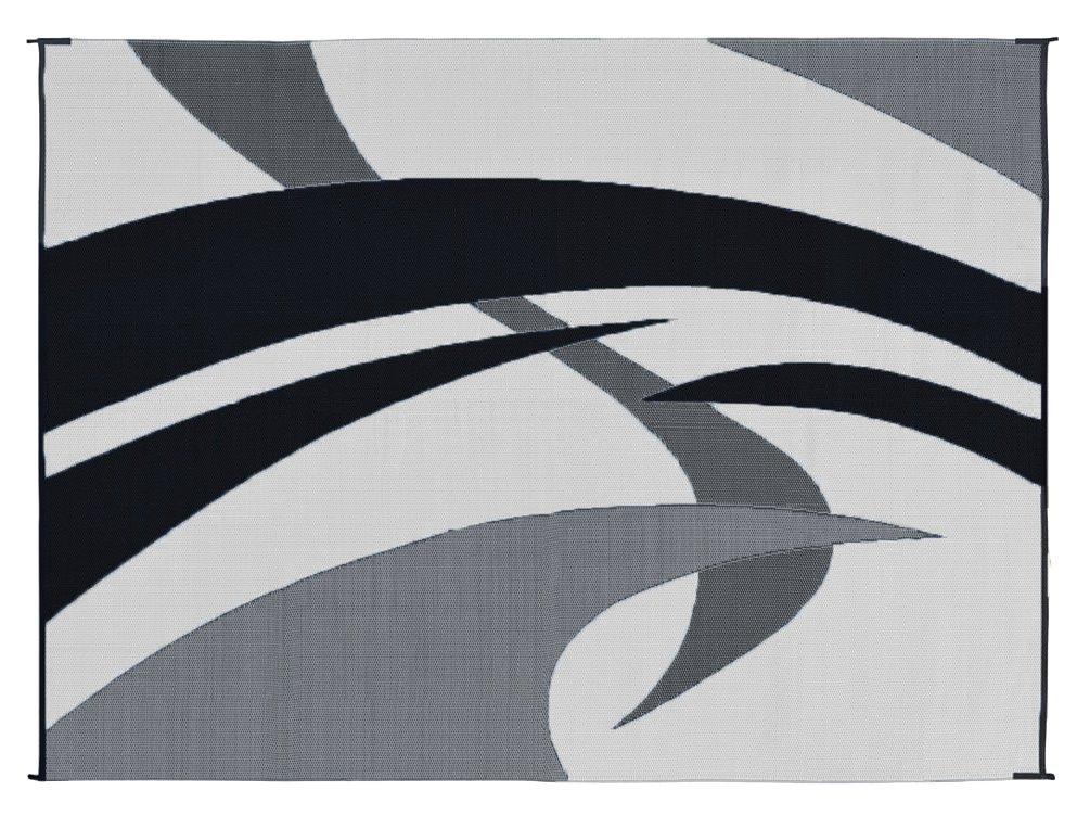 Black And White Patio Rug Part - 48: Amazon.com: Reversible Mats 159121 Black/White 9u0027x12u0027 Swirl Pattern Mat:  Automotive