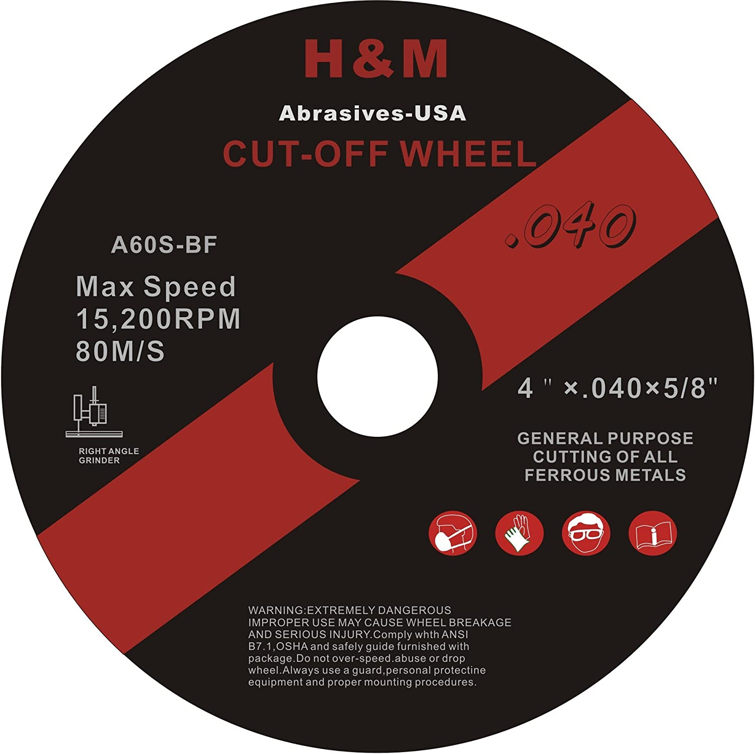 4 x .040 x 5//8 CUT-OFF WHEELS for Stainless Steel /&.Metal Cutting Disc 50 PACK