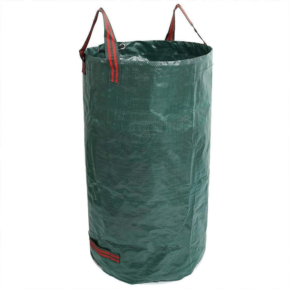 Chlyuan-Hm Sac de Jardin Le Sac de Feuille de Jardin de PP Peut r/éutiliser Le Sac /à ordures environnemental de Sac de Feuille de Cour 120L pour Les d/échets de pelouse et de triage