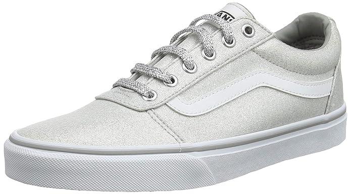 Vans Ward Sneakers Canvas Damen Grau-Silber (Lurex Glitter)