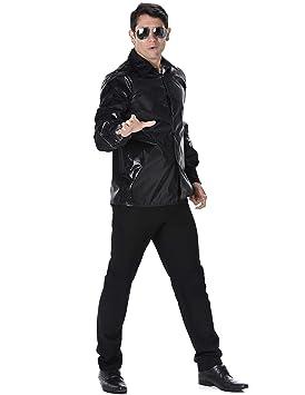 Generique - Camisa Disco Lentejuelas Negras Hombre L: Amazon.es: Juguetes y juegos