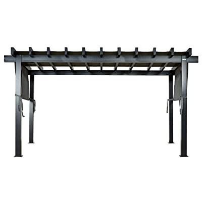 Sojag 10' x 16' x 8' Yamba Outdoor Backyard Pergola Rectangular Shaped Gazebo, 10' x 16', Dark Grey : Garden & Outdoor