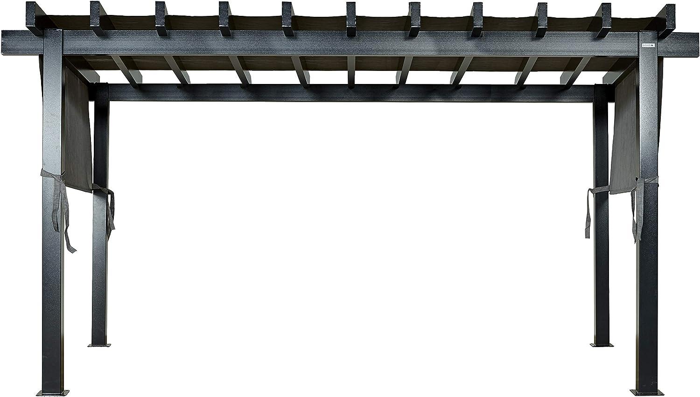 Sojag Yamba - Cenador de aluminio (3 x 5 m, con protección solar, 10 x 16 cm, 295 x 495 cm), color antracita: Amazon.es: Jardín