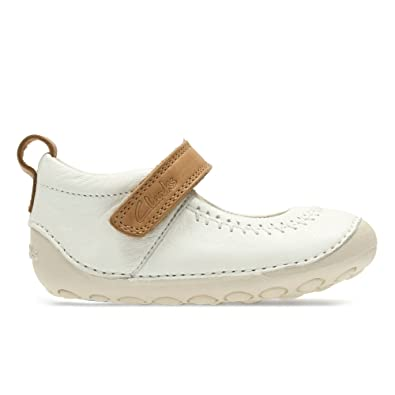 39301f926ab Clarks Infant Girls First Cruiser Shoes Little Atlas - White Leather - UK  Size 2G -