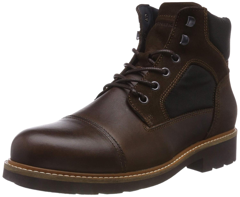 TALLA 41 EU. Tommy Hilfiger Active Material Mix Boot, Botas Militar para Hombre, Marrón (Coffee Bean 212), 41 EU
